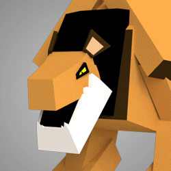 AM Rig Lion Animation Characters